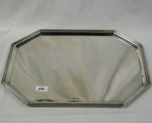 Image of Lot  446  - A Walker and Hall silver tray Sheffield 1930, approx 1845 gr.