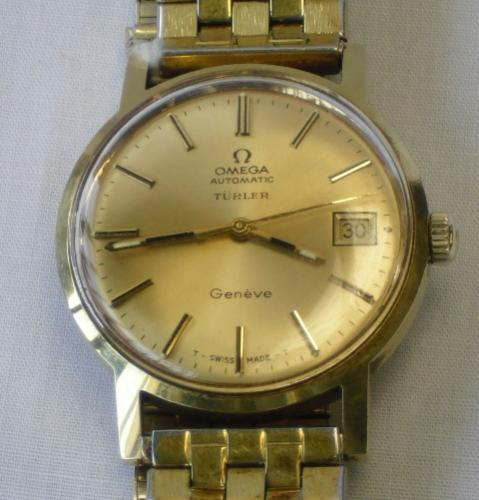 Image of Lot  416  - An Omega Geneve gents yellow metal cased automatic wristwatch c1970.