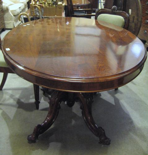 Image of Lot  973  - A Victorian rosewood oval loo table