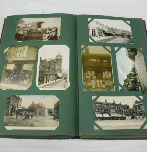 Image of Lot  392  - An album of Edwardian & later postcards incl military interest, embroidered silk, sporting interest, real photograph etc