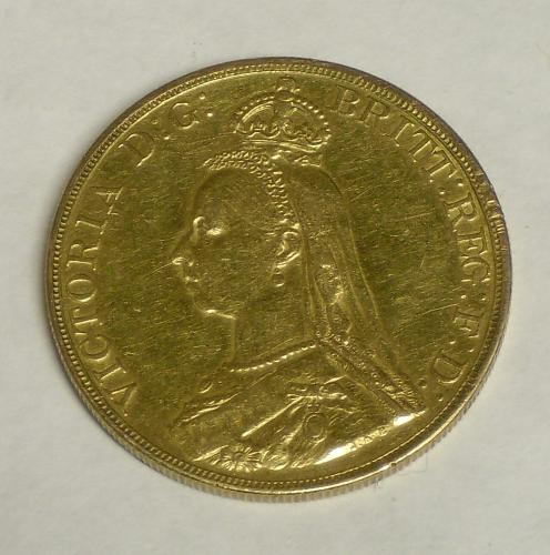 Image of Lot  132  - A Victoria 1887 five pound coin