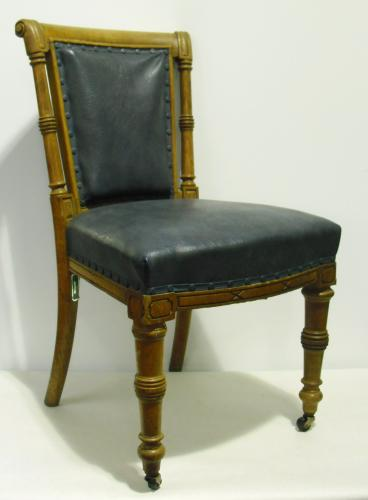 Image of Lot  464  - Twelve oak boardroom chairs (a/f). Made in 1906 for the North Eastern Railway York Headquarters and used there until its closure and development into the Cedar Court Hotel. Sold on instruction from the York Civic Trust, Fairfax House, Castlegate