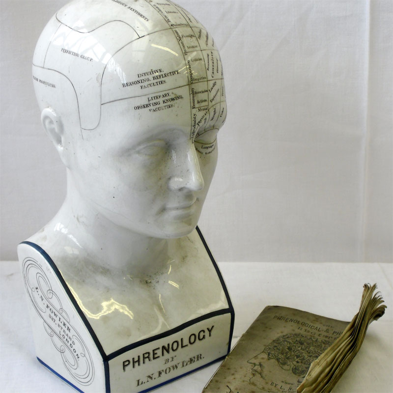 Image of Lot 302 - A phrenology bust with booklet, both c1870