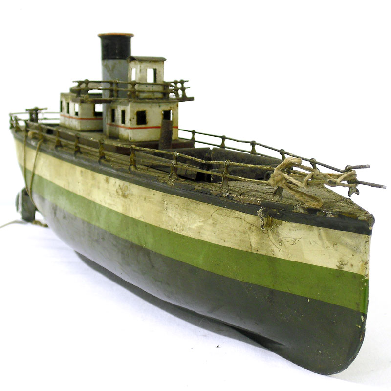 Image of Lot 15 - A tinplate clockwork toy ship by Gerbruder Bing