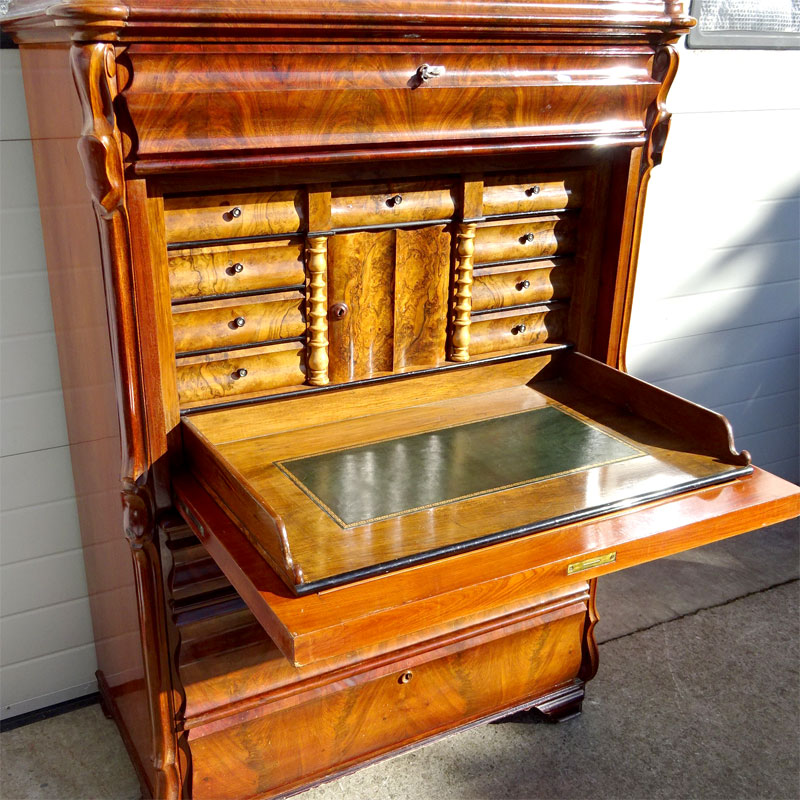 Image of Lot 590 - A Secretaire Abattant, 19th century Continental